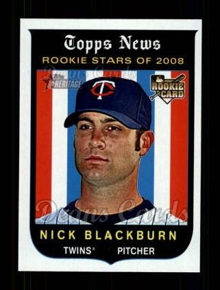 2008 Topps Heritage #593  Nick Blackburn