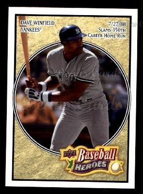 2008 Upper Deck Heroes #126  Dave Winfield