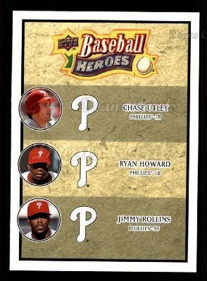 2008 Upper Deck Heroes #191  Chase Utley / Ryan Howard / Jimmy Rollins