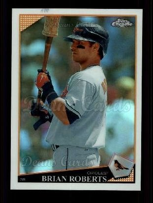 2009 Topps Chrome Refractor #83  Brian Roberts