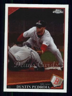 2009 Topps Chrome #97  Dustin Pedroia