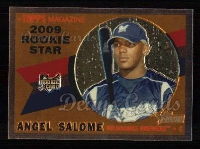 2009 Topps Heritage Chrome #77  Angel Salome