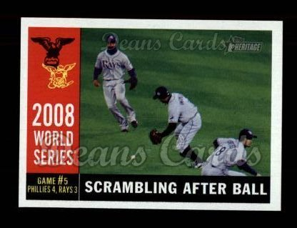 2009 Topps Heritage #390   -  B.J. Upton World Series