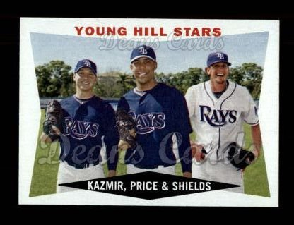 2009 Topps Heritage #399  Scott Kazmir/David Price/James Shields