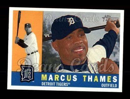 2009 Topps Heritage #443  Marcus Thames