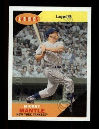 2009 Topps Heritage Baseball Flashbacks #1 BF Mickey Mantle