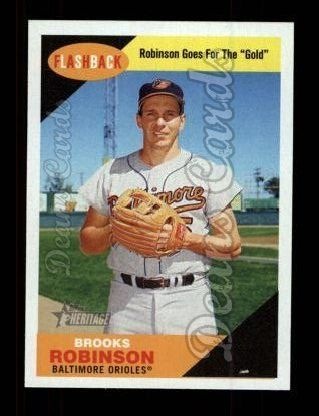 2009 Topps Heritage Baseball Flashbacks #7 BF Brooks Robinson