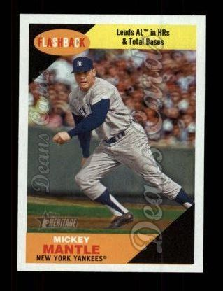 2009 Topps Heritage Baseball Flashbacks #9 BF Mickey Mantle
