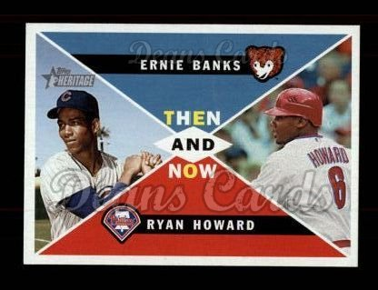2009 Topps Heritage Then & Now #1 TN Ernie Banks / Ryan Howard
