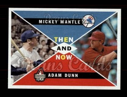 2009 Topps Heritage Then & Now #5 TN Mickey Mantle / Adam Dunn