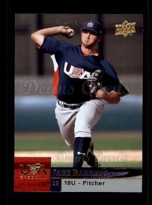 2009 Upper Deck #10 UJB  -  Jake Barrett USA Baseball