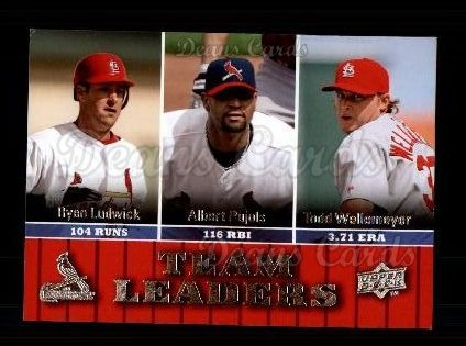 2009 Upper Deck #436   -  Albert Pujols / Ryan Ludwick / Todd Wellemeyer Cardinals Leaders