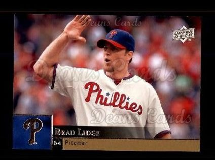 2009 Upper Deck #809  Brad Lidge