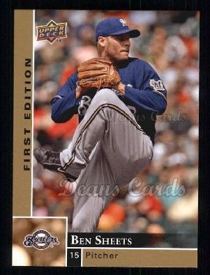 2009 Upper Deck First Edition #174  Ben Sheets