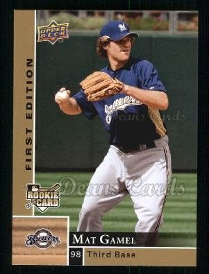 2009 Upper Deck First Edition #176  Mat Gamel