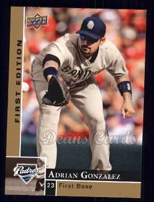 2009 Upper Deck First Edition #242  Adrian Gonzalez