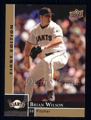 2009 Upper Deck First Edition #250  Brian Wilson
