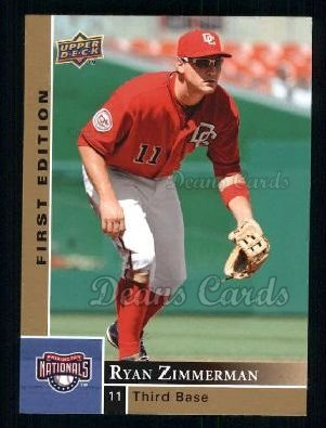 2009 Upper Deck First Edition #299  Ryan Zimmerman