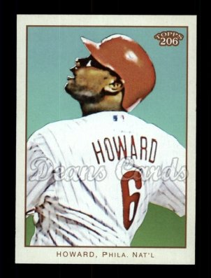 2009 Topps 206 #1 A Ryan Howard