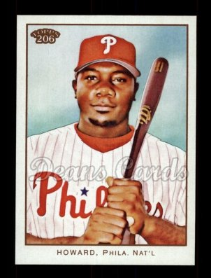 2009 Topps 206 #1 B Ryan Howard