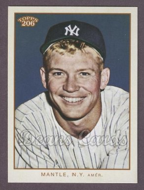 2009 Topps 206 #2   -  Mickey Mantle Checklist # 2 of 7