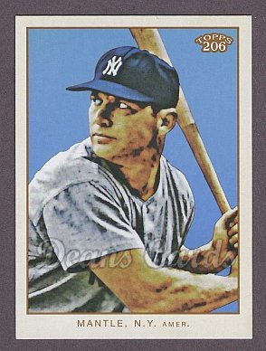 2009 Topps 206 #3   -  Mickey Mantle Checklist # 3 of 7