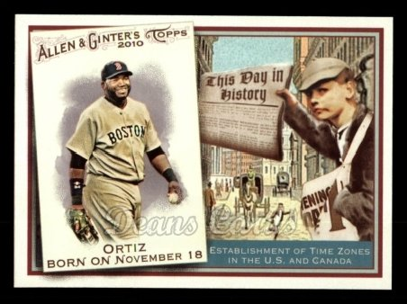 2010 Topps Allen & Ginter This Day In History #10 TDH  -  David Ortiz This Day in History