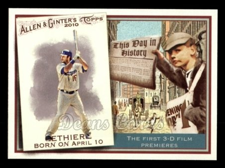 2010 Topps Allen & Ginter This Day In History #12 TDH  -  Andre Ethier This Day in History