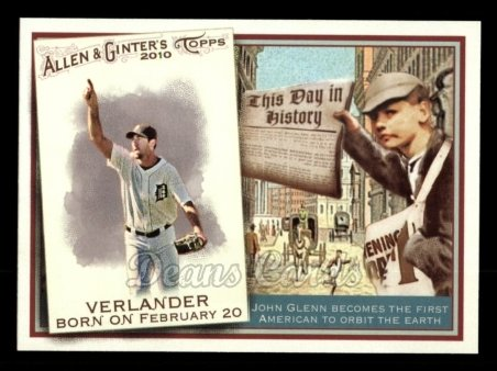 2010 Topps Allen & Ginter This Day In History #14 TDH  -  Justin Verlander This Day in History