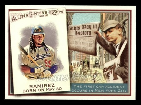 2010 Topps Allen & Ginter This Day In History #15 TDH  -  Manny Ramirez This Day in History