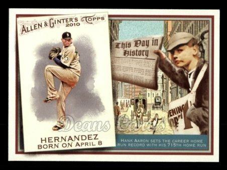 2010 Topps Allen & Ginter This Day In History #18 TDH  -  Felix Hernandez This Day in History