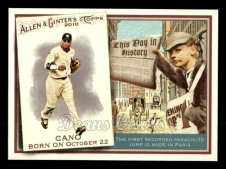 2010 Topps Allen & Ginter This Day In History #19 TDH  -  Robinson Cano This Day in History