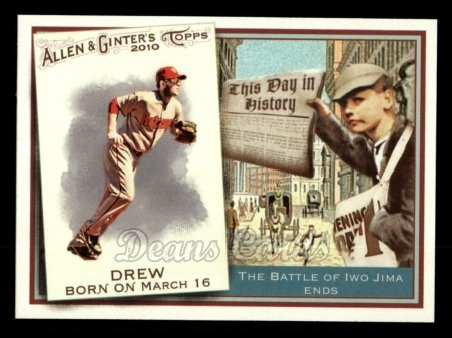 2010 Topps Allen & Ginter This Day In History #2 TDH  -  Stephen Drew This Day in History