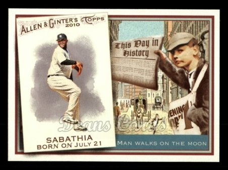 2010 Topps Allen & Ginter This Day In History #20 TDH  -  C.C. Sabathia This Day in History