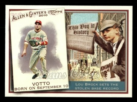2010 Topps Allen & Ginter This Day In History #24 TDH  -  Joey Votto This Day in History