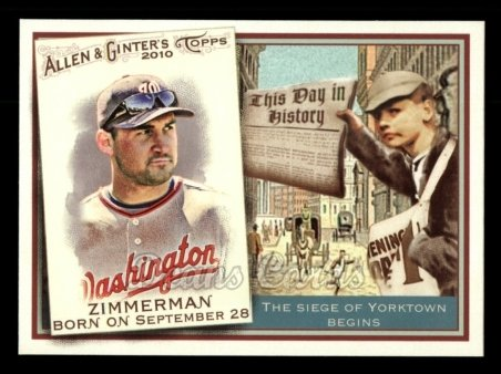 2010 Topps Allen & Ginter This Day In History #25 TDH  -  Ryan Zimmerman This Day in History