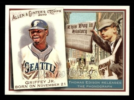 2010 Topps Allen & Ginter This Day In History #27 TDH  -  Ken Griffey Jr. This Day in History