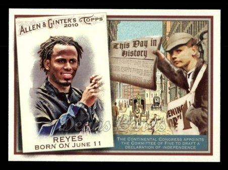 2010 Topps Allen & Ginter This Day In History #28 TDH  -  Jose Reyes This Day in History