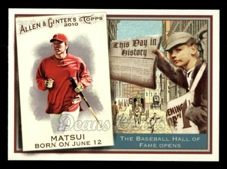 2010 Topps Allen & Ginter This Day In History #30 TDH  -  Hideki Matsui This Day in History