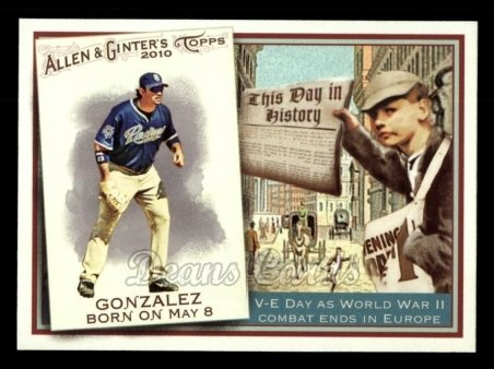 2010 Topps Allen & Ginter This Day In History #32 TDH  -  Adrian Gonzalez This Day in History