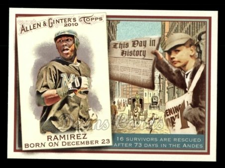 2010 Topps Allen & Ginter This Day In History #36 TDH  -  Hanley Ramirez This Day in History