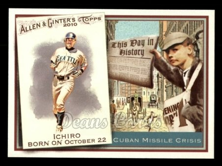 2010 Topps Allen & Ginter This Day In History #37 TDH  -  Ichiro Suzuki This Day in History