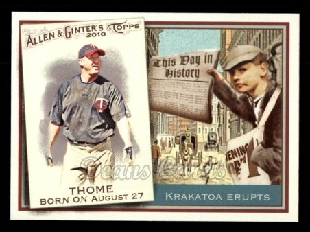 2010 Topps Allen & Ginter This Day In History #38 TDH  -  Jim Thome This Day in History