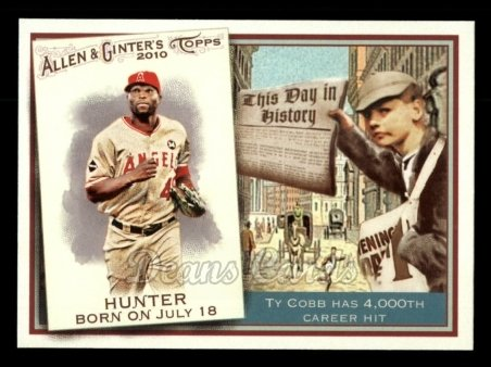 2010 Topps Allen & Ginter This Day In History #39 TDH  -  Torii Hunter This Day in History