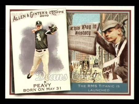 2010 Topps Allen & Ginter This Day In History #40 TDH  -  Jake Peavy This Day in History