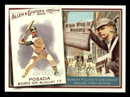 2010 Topps Allen & Ginter This Day In History #42 TDH  -  Jorge Posada This Day in History
