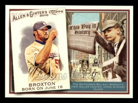 2010 Topps Allen & Ginter This Day In History #43 TDH  -  Jonathan Broxton This Day in History