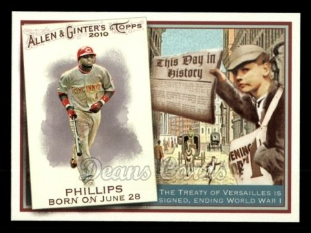 2010 Topps Allen & Ginter This Day In History #47 TDH  -  Brandon Phillips This Day in History