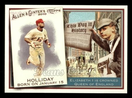 2010 Topps Allen & Ginter This Day In History #48 TDH  -  Matt Holliday This Day in History