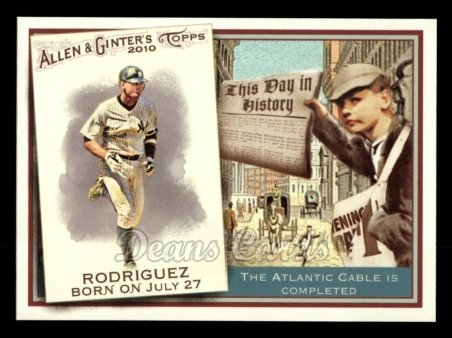 2010 Topps Allen & Ginter This Day In History #50 TDH  -  Alex Rodriguez This Day in History